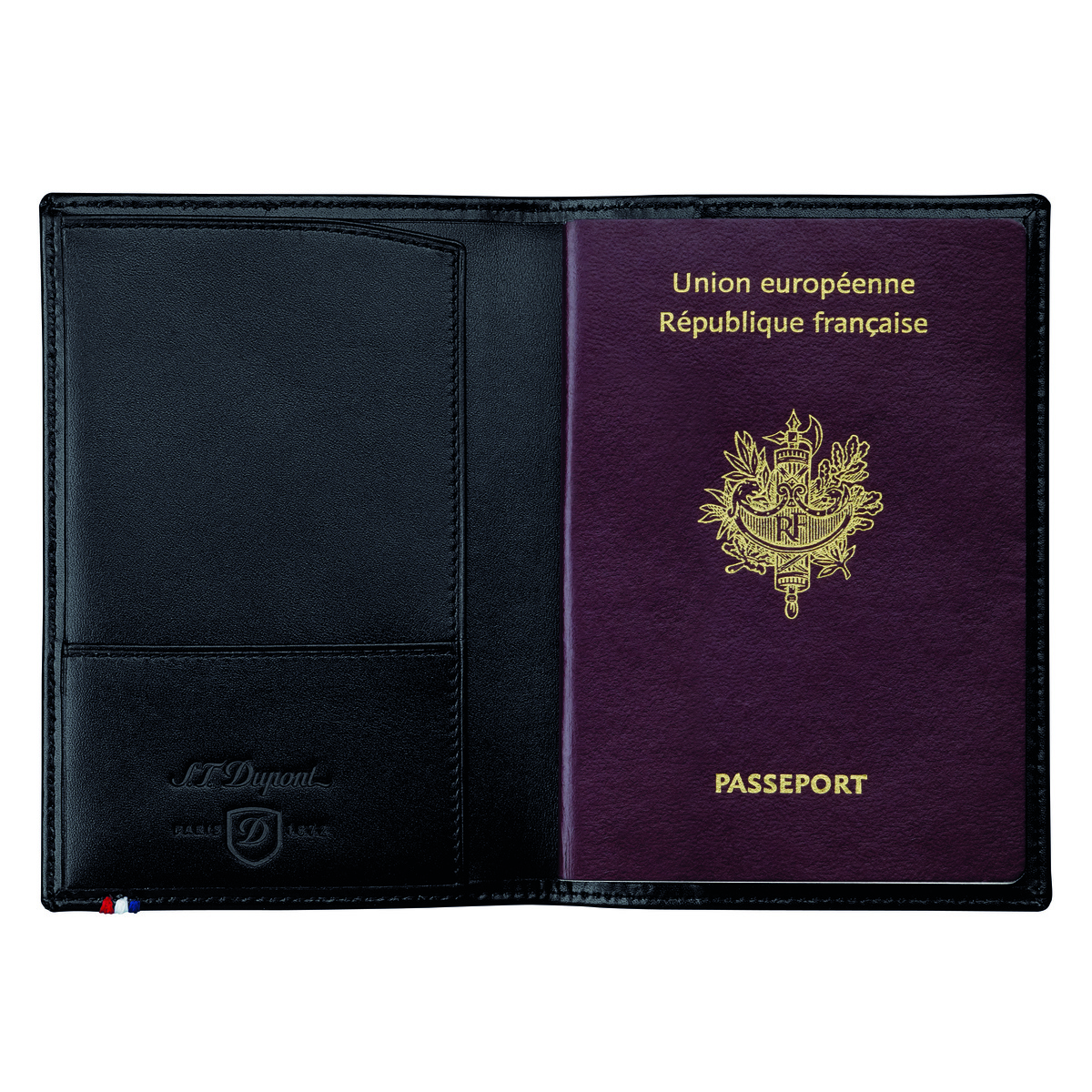 Couverture passeport S.T. Dupont Ligne D noir 5ee48c5fd78